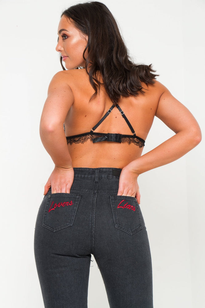 Lax Straight Leg Jean With Embroidery Back Pocket