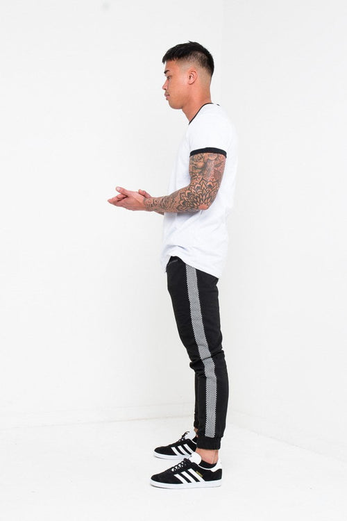 Daytona Slim fit jogger with checkered sports stripe