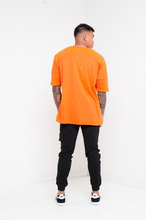 BAYSIDE OVERSIZED NEON ORANGE T SHIRT - Liquor N Poker  Liquor N Poker