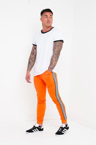 BAKERFIELD BLOCK WORK JOGGER IN SLIM FIT NEON ORANGE