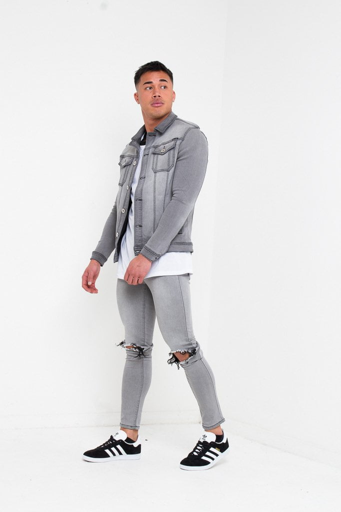 b62d1c02ca9 LOGAN SKINNY JEANS WITH RIPPED KNEE IN WASHED GREY – LIQUOR N POKER