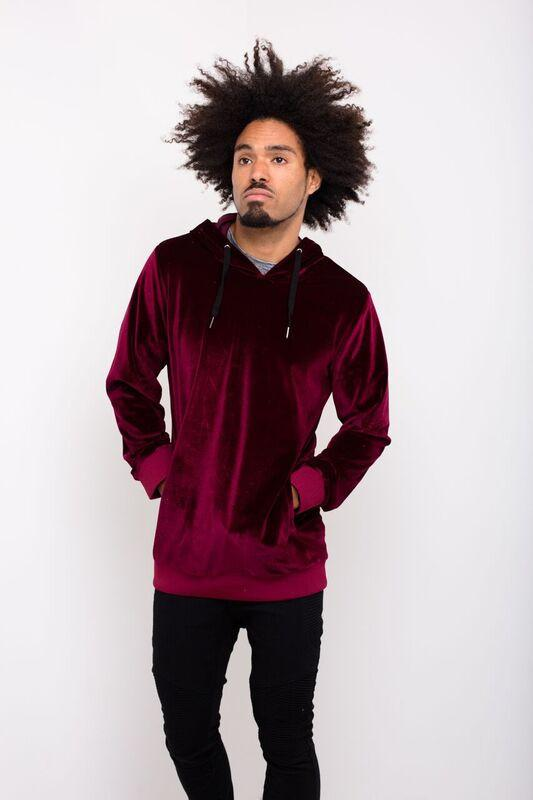 Red Velour Hoody - Liquor N Poker  Liquor N Poker