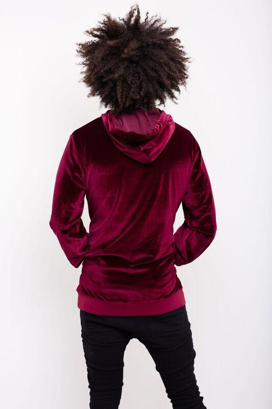 Liquor n Poker - Red Velour Hoody - Liquor N Poker  Liquor N Poker