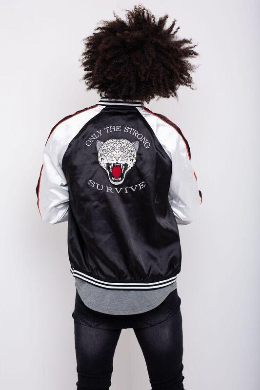 Load image into Gallery viewer, Souvenir Satin Bomber - Tigers Head Embroiderey - Liquor N Poker  LIQUOR N POKER