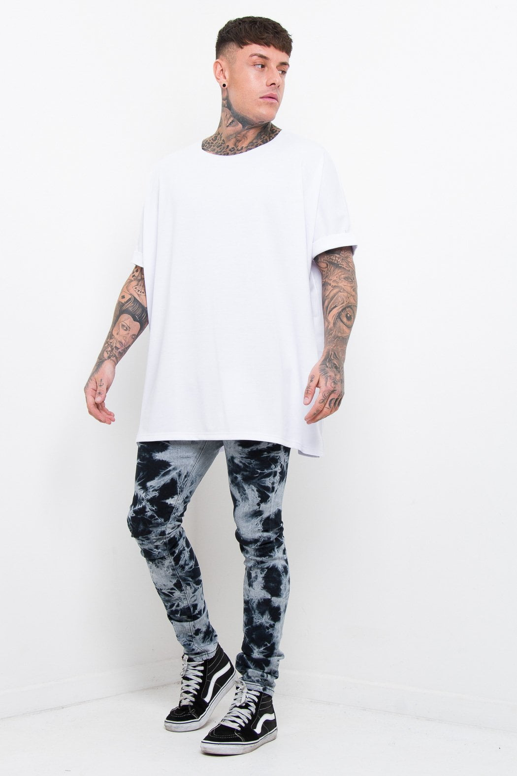 Galaxy tie dye skinnies in black - Liquor N Poker  Liquor N Poker