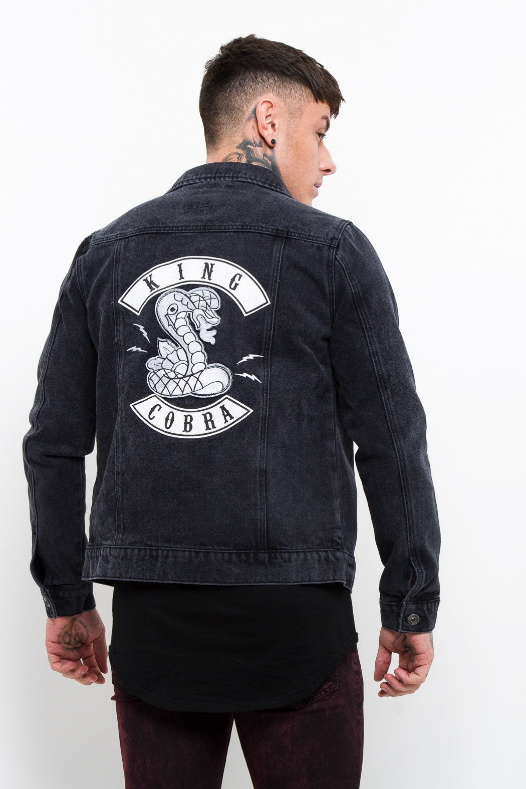 Norton Black Denim Trophy Jacket King Cobra - Liquor N Poker  Liquor N Poker