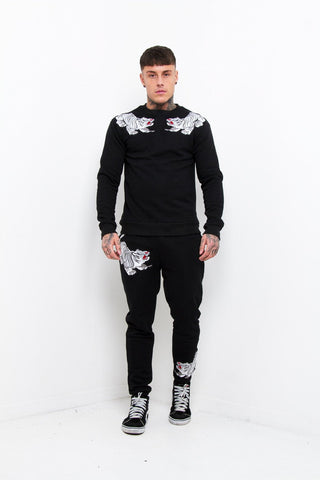 Japanese Embroidered Tiger Tracksuit - Liquor N Poker  Liquor N Poker