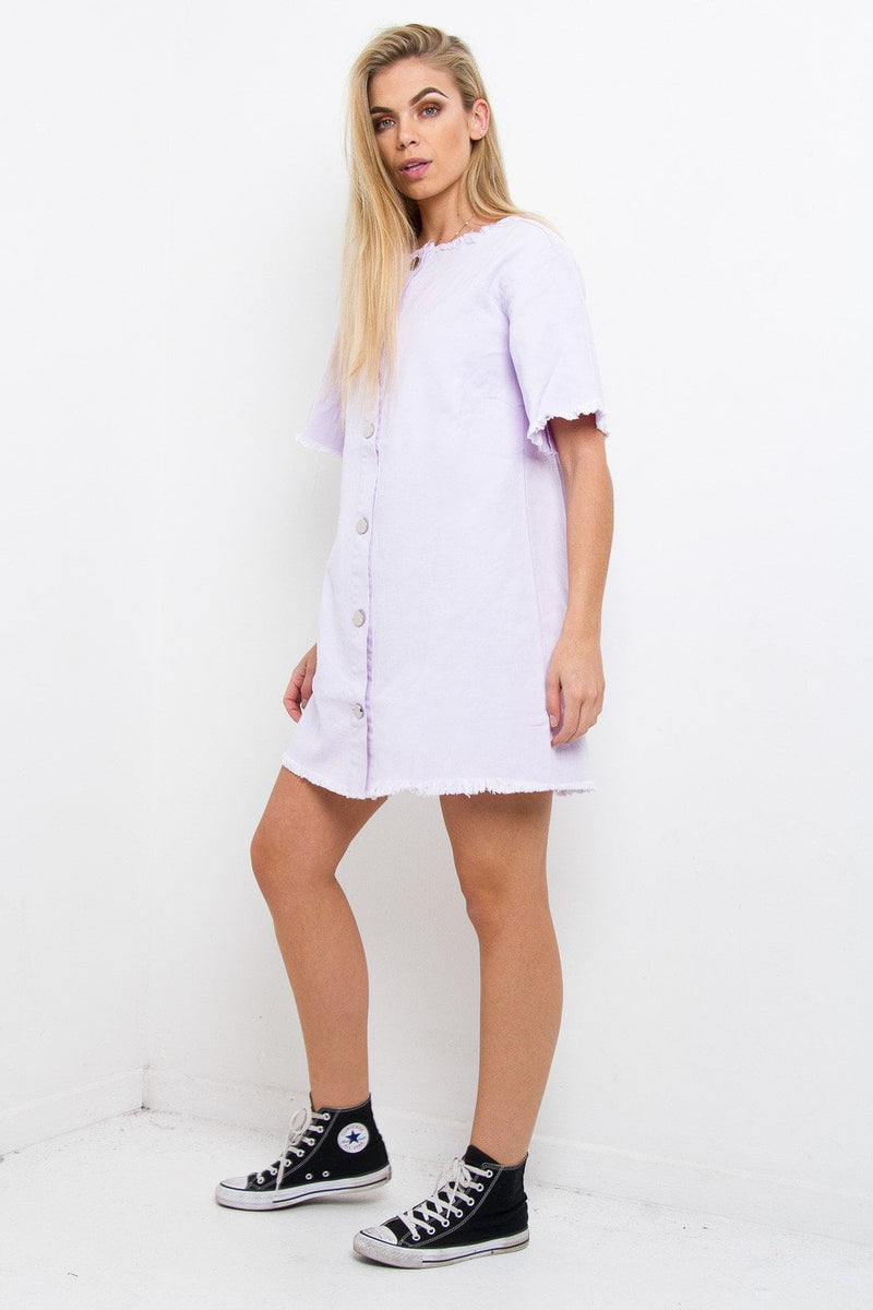 Missoula Denim Shift Dress In Lilac - Liquor N Poker  Liquor N Poker