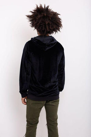 Load image into Gallery viewer, Black Velour Hoody - Liquor N Poker  LIQUOR N POKER