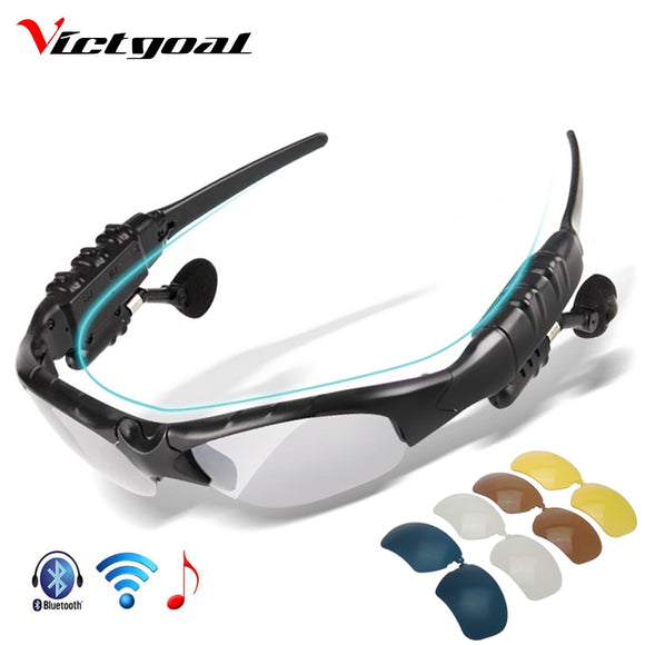 VICTGOAL Polarized Cycling Glasses With Bluetooth - all4detox