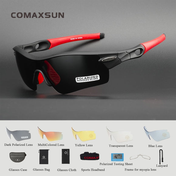 Professional Polarized Sports Bicycle Sunglasses UV 400 With 5 Lens 5 Color - all4detox