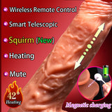 Smart Heating Automatic Telescopic Dildo Real Sex - all4detox