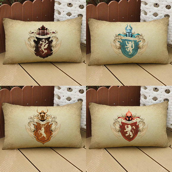 Vintage Style Game Of Thrones Pillow Case - all4detox