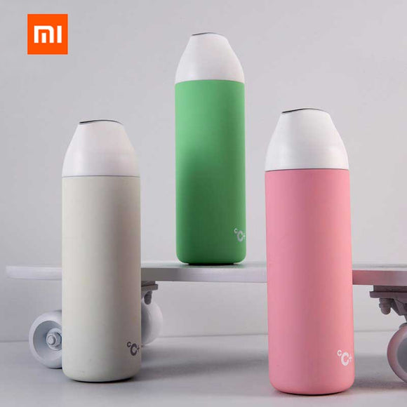 Original Xiaomi Mijia Kiss Kiss Fish Smart Vacuum Insulation Bottle With 3 Filter OLED Temperature - all4detox