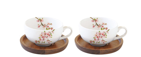 A set of 2 porcelain coffee cups