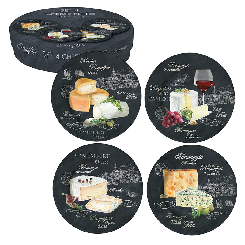 A set of 4 cheese plates