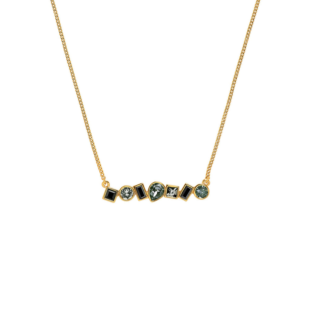 Adore Brilliance Mixed Crystal Bar Necklace