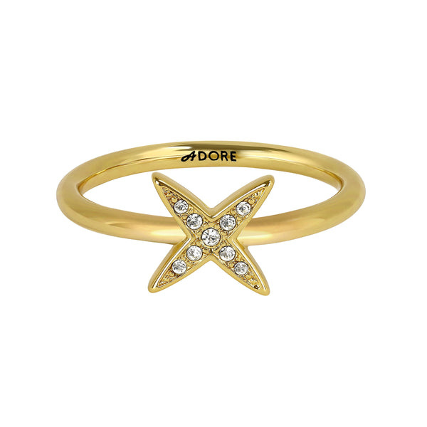 Adore Elegance 4 Point Star Ring Detail