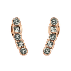Adore Brilliance Mixed Crystal Climber Post Earrings Detail