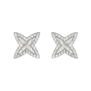 Adore Naturale Pavé Resin 4 Point Star Earrings Detail