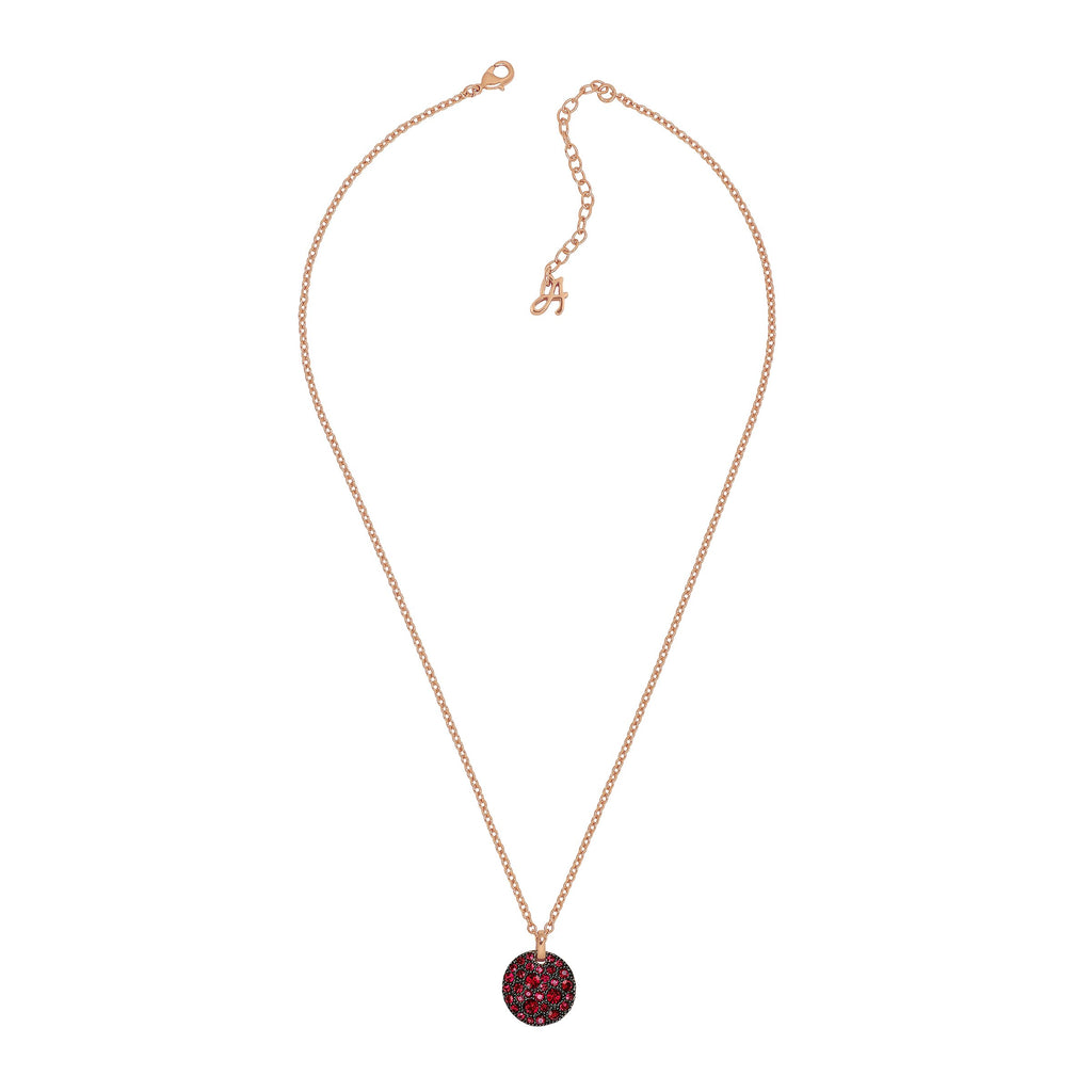 Adore Shimmer Small Pavé Disc Pendant Necklace Detail