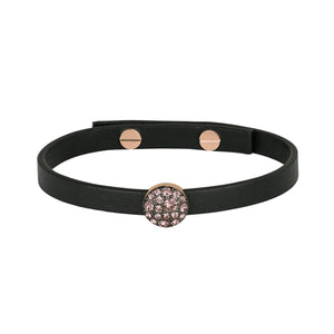 Adore Shimmer Pavé Disc Leather Bracelet Detail