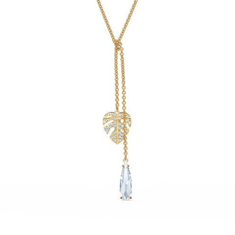 NEW SWAROVSKI TROPICAL NECKLACE, WHITE, GOLD-TONE PLATED
