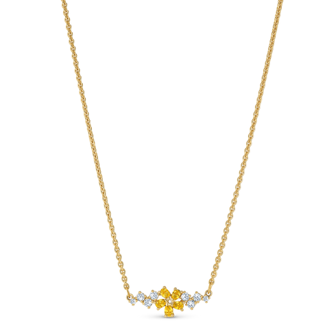 NEW  ATELIER SWAROVSKI BOTANICAL NECKLACE, YELLOW, GOLD-TONE PLATED