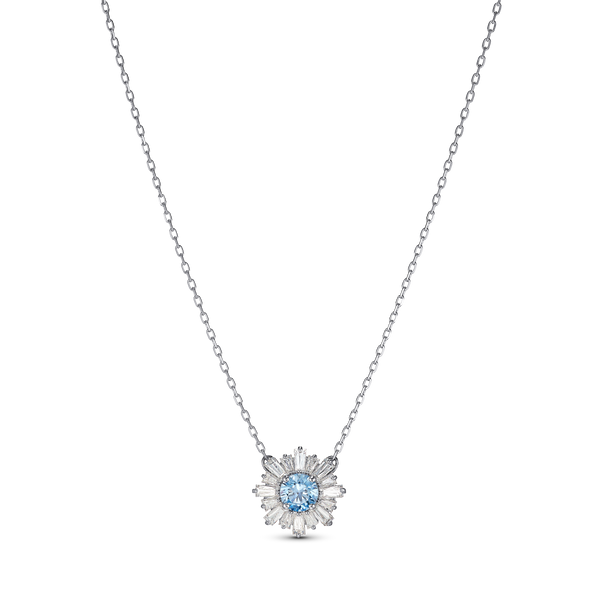 SUNSHINE PENDANT, BLUE, RHODIUM PLATED