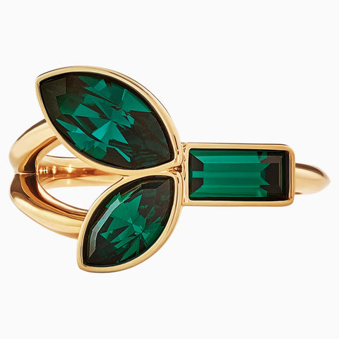 ATELIERBEAUTIFUL EARTH BY SUSAN ROCKEFELLER RING SET, GREEN, GOLD-TONE PLATED