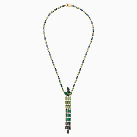 ATELIER BEAUTIFUL EARTH BY SUSAN ROCKEFELLER Y NECKLACE, DARK MULTI-COLORED, GOLD-TONE PLATED