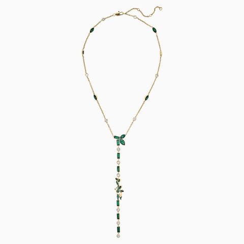 ATELIER BEAUTIFUL EARTH BY SUSAN ROCKEFELLER Y NECKLACE, PANDA, GREEN, GOLD-TONE PLATED