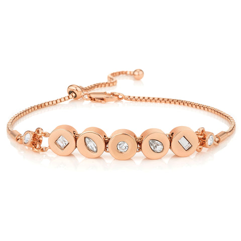 Buckley London,  Knightley Friendship Bracelet - Rose Gold