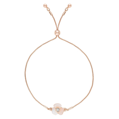 Buckley London,  Mother of Pearl Rose Gold Flower Bracelet