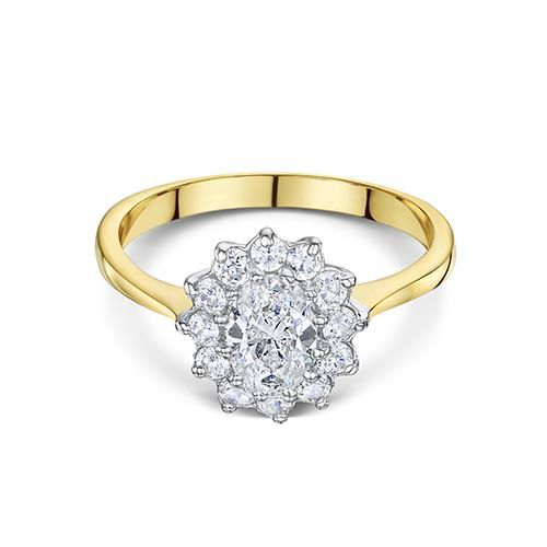 Buckley London, Two Tone Flower Ring