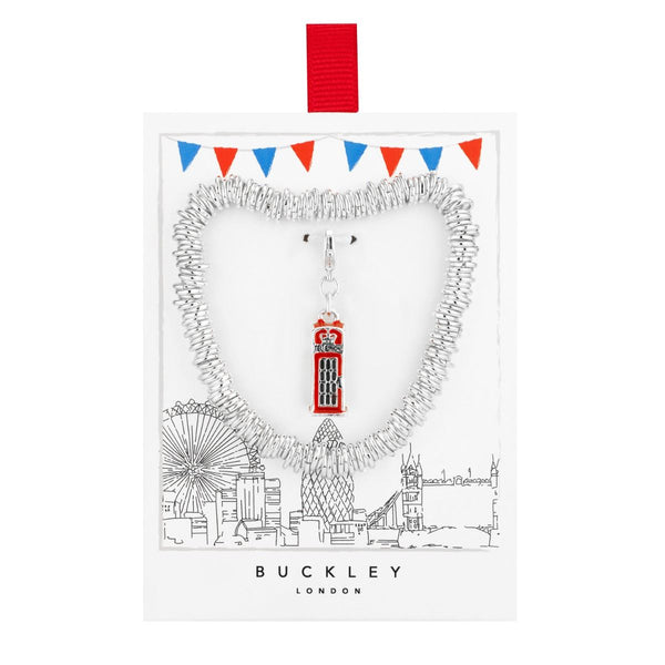 BUCKLEY LONDON, Red Telephone Box Charm Bracelet