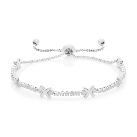 Buckley London, Hugs & Kisses 'X' Bracelet - Silver