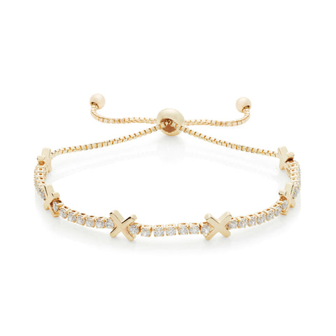 Buckley London, Hugs & Kisses 'X' Bracelet - Gold