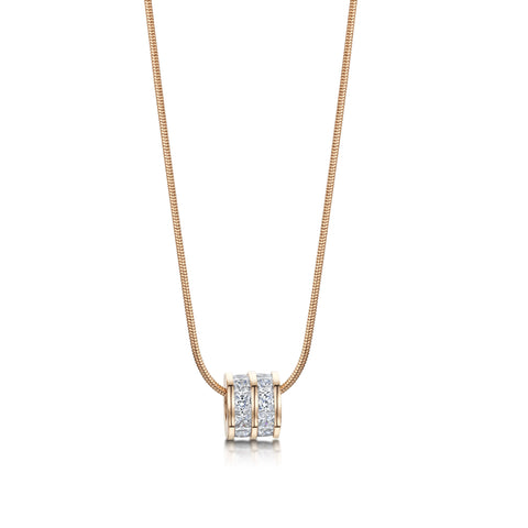 Buckley London, Ice Cube Charm Pendant - Rose Gold