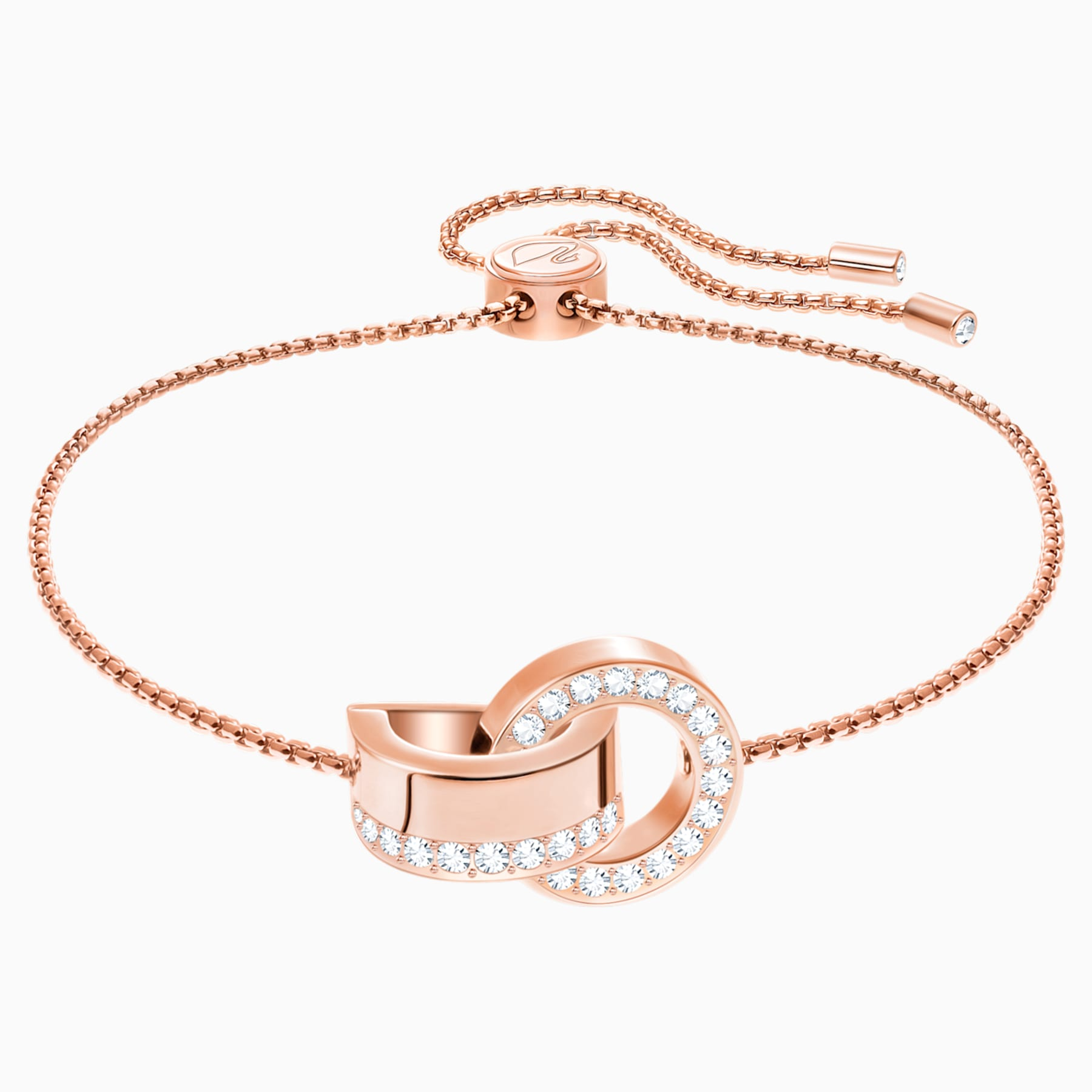 SWAROVSKI, HOLLOW BRACELET, WHITE, ROSE-GOLD TONE PLATED
