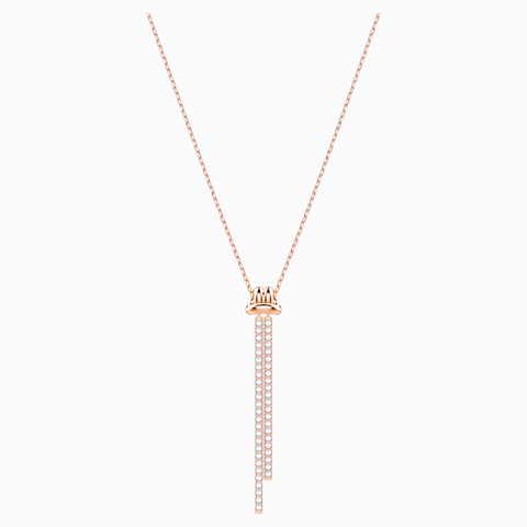 SWAROVSKI, LIFELONG Y PENDANT, WHITE, ROSE-GOLD TONE PLATED