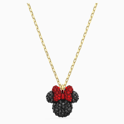 NEW MINNIE PENDANT, BLACK, GOLD-TONE PLATED
