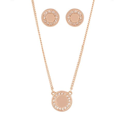 Buckley London, Shoreditch Button Pendant and Earring Set