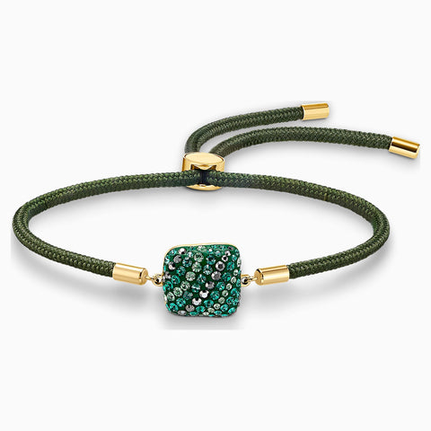 NEW SWAROVSKI POWER COLLECTION EARTH ELEMENT BRACELET, GREEN, GOLD-TONE PLATED