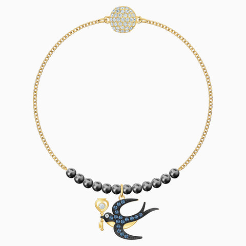 SWAROVSKI, REMIX BRACELET  COLLECTION SWALLOW STRAND, MULTI-COLORED, GOLD-TONE PLATED