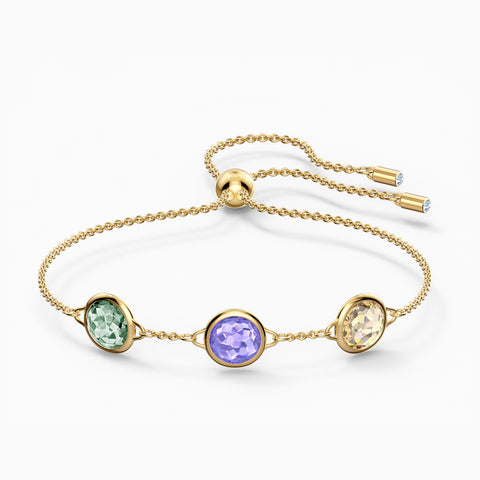 NEW TAHLIA BRACELET, MULTICOLORED, GOLD-TONE PLATED