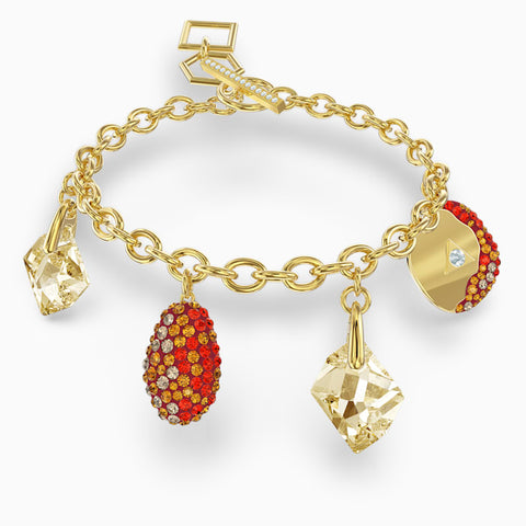 THE ELEMENTS BRACELET, RED, GOLD-TONE PLATED