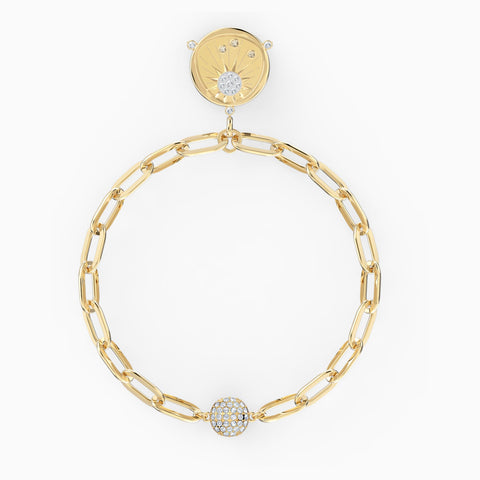 NEW THE ELEMENTS SUN BRACELET, WHITE, GOLD-TONE PLATED