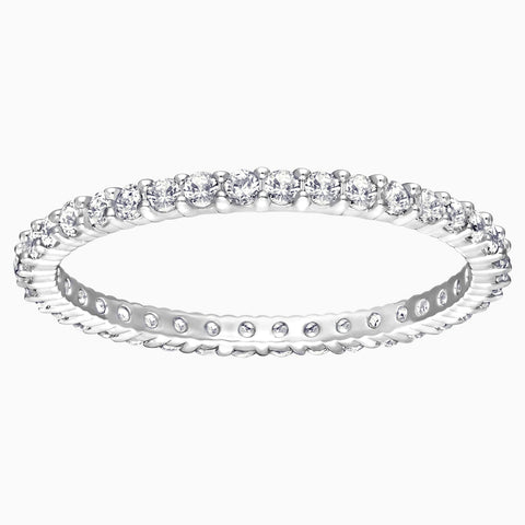 VITTORE RING, WHITE, RHODIUM PLATING