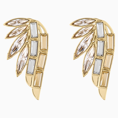 WONDER WOMAN EAR CUFF, WHITE, GOLD-TONE PLATED